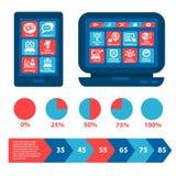 Éléments plats de Web et d'infographics illustration libre de droits