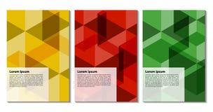 Éléments plats géométriques à la mode colorés de busine moderne de modèle illustration libre de droits