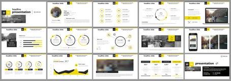 Éléments pour des calibres de présentation illustration stock