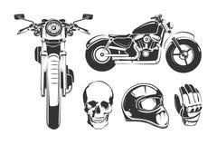 Éléments pour des labels de moto de vecteur de vintage illustration de vecteur