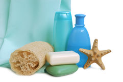 Éléments pour la propreté Images stock