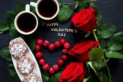 Éléments pour le jour du ` s de St Valentine Photos stock