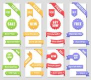 Éléments promotionnels de conception de ventes Image libre de droits