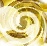 Éléments ronds d'or de conception Images stock