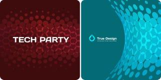 Éléments ronds de conception bleue rouge abstraite de vecteur pour la disposition graphique illustration stock