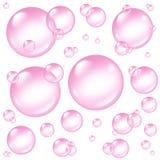Éléments roses de conception de bulles illustration de vecteur
