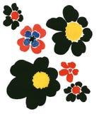 Éléments rudement peints de conception de mode de fleurs image libre de droits