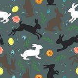 Éléments sans couture de Pâques de texture illustration stock