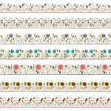 Éléments sans joint de cadre et de trame de griffonnage floraux Images stock