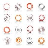 Éléments spiralés de conception Photos stock