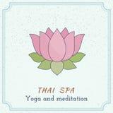 Éléments thaïlandais tirés par la main de conception de massage et de station thermale Photo libre de droits