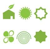 Éléments verts illustration de vecteur