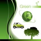Éléments verts allants Photographie stock