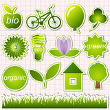 Éléments verts d'eco Photo libre de droits