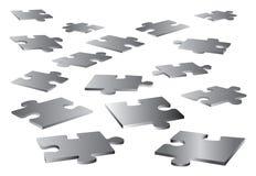 Éléments vides de puzzle Photos stock
