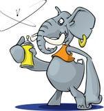 Éléphant avec le jet Image libre de droits
