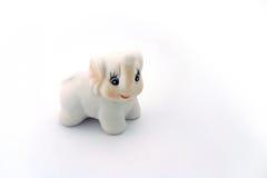Éléphant blanc de porcelaine Photos libres de droits