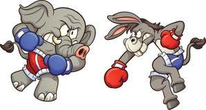 Éléphant contre l'âne illustration stock
