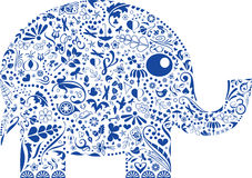 Éléphant décoratif illustration de vecteur