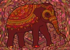Éléphant décoratif de Brown illustration de vecteur