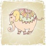 Éléphant décoratif de vintage illustration libre de droits