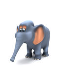 éléphant 3d Photos stock