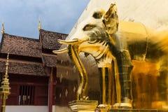 Éléphant d'or Photographie stock libre de droits