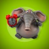 Éléphant d'amusement - illustration 3D Photo libre de droits