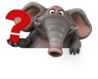 Éléphant d'amusement - illustration 3D Images libres de droits