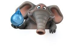 Éléphant d'amusement - illustration 3D Images stock