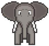 Éléphant d'art de pixel Image libre de droits