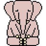 Éléphant d'art de pixel de vecteur Images stock
