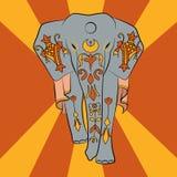 Éléphant d'Asie illustration de vecteur