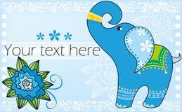 éléphant d'Asie bleu illustration stock