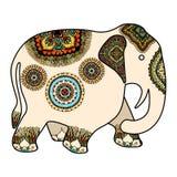 Éléphant d'Asie décoré illustration stock
