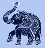 Éléphant d'Asie d'art populaire ethnique, vecteur Photo stock