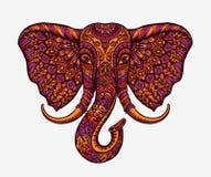 Éléphant d'Asie de fête Configurations ethniques Illustration de vecteur illustration de vecteur