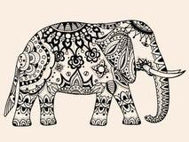 Éléphant d'Asie de vecteur illustration de vecteur