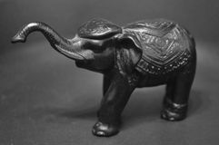 Éléphant d'Asie en bronze Images stock