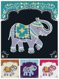 Éléphant d'Asie typique de fête illustration libre de droits
