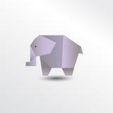 Éléphant d'Origami Images libres de droits