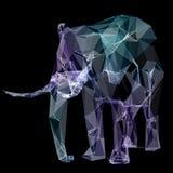 Éléphant dans la conception de polygone Illustration de Digital Concept Image libre de droits