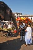 Éléphant dans la ville Image libre de droits