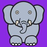 Éléphant dans le style de bande dessinée illustration stock