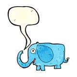 éléphant de bébé de bande dessinée avec la bulle de la parole Photos stock
