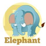 Éléphant de bande dessinée d'ABC illustration de vecteur
