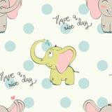 Éléphant de bande dessinée de vecteur Image stock