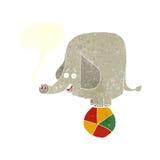 éléphant de cirque de bande dessinée avec la bulle de la parole Image libre de droits