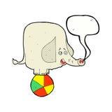 éléphant de cirque de bande dessinée avec la bulle de la parole Images libres de droits
