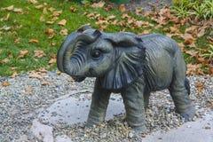 Éléphant de parc de Skazki dans Gelendzhik Images stock